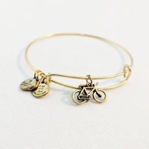 Alex and Ani Rafaelian Gold Bicycle Bracelet